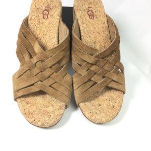UGG Women's Lilah Wedge Slide Sandal Chestnut
